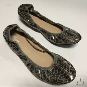 Wanted brand shiny brown flats, size 8 (273)